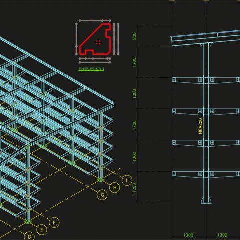 progettazione struture in carpenteria metallica