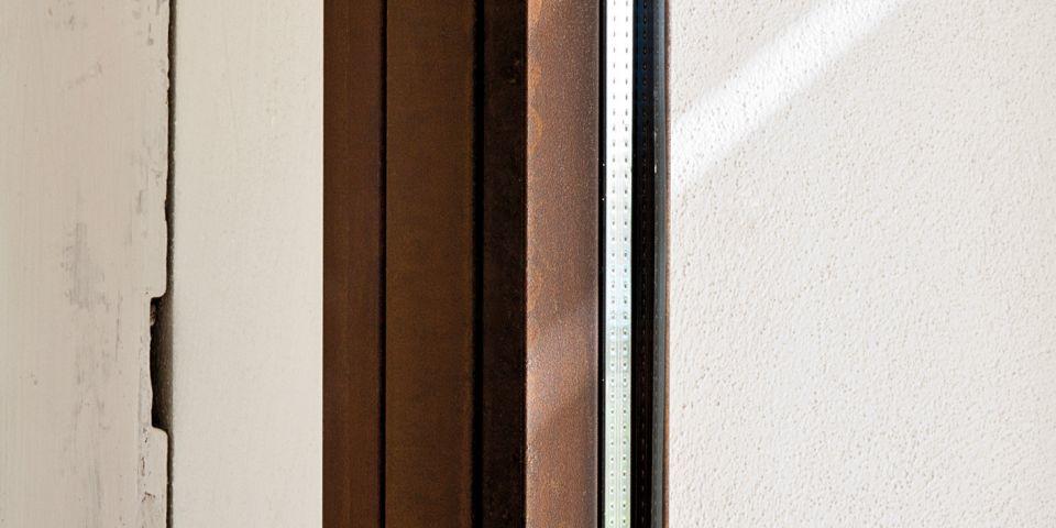 profilo cor-ten per infissi taglio freddo