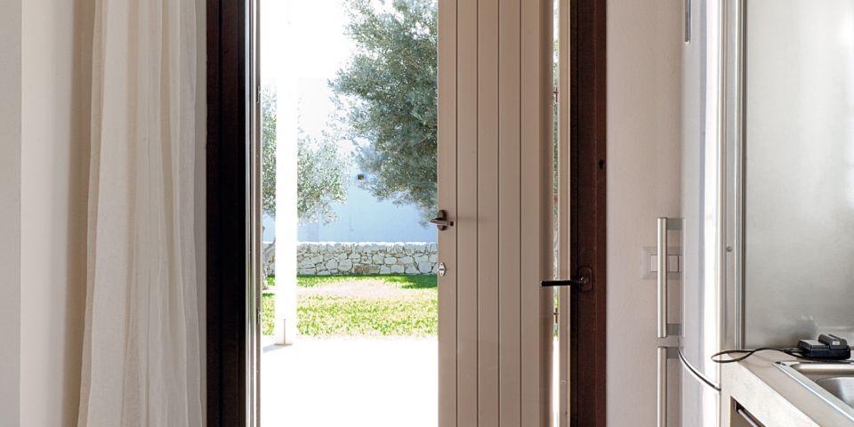 porta finestra in cor-ten