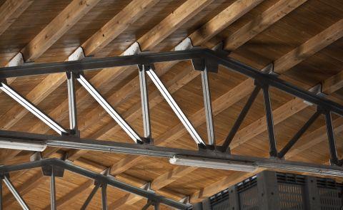 copertura legno e acciaio