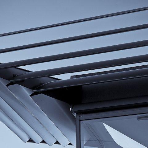 pensiline e tettoie in acciaio